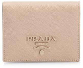 Prada Monocrome Leather French Wallet