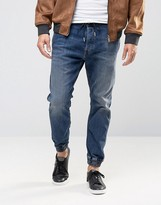 Diesel Duff Tapered Cuffed Jeans 855q Mid Wash
