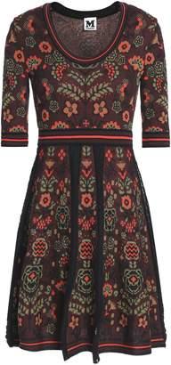 M Missoni Jacquard-knit Cotton-blend Mini Dress