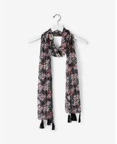 Express floral metallic stripe scarf