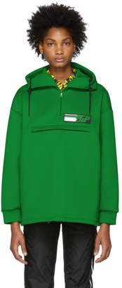 Prada Green Tech Zip-Up Hoodie