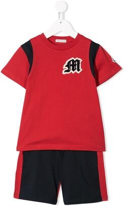 Moncler Enfant Logo Contrast Two-Piece Set