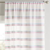 Pottery Barn Teen Rainbow Stripe Sheer Curtain Set