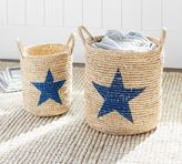 Pottery Barn Printed Star Baskets