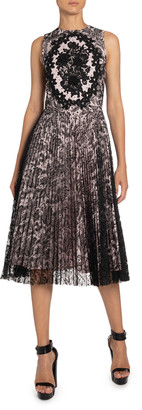 Andrew Gn Antique Lace Midi Dress