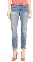Caslon Distressed Stretch Crop Boyfriend Jeans