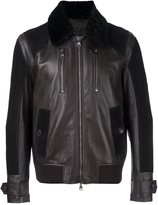 Salvatore Ferragamo shearling collar jacket