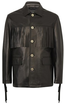 Versace Peacot leather jacket
