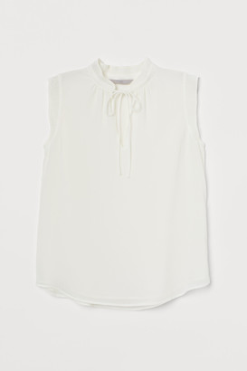 H&M Pleated-collar Blouse