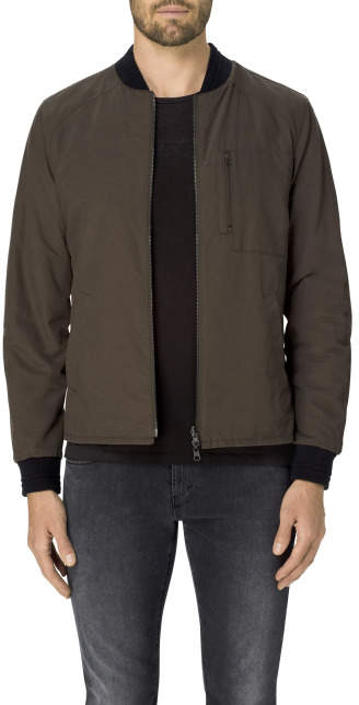 J Brand Hitch Hiker Reversible Bomber Jacket In Outflow