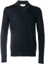 Salvatore Ferragamo satin trim V-neck sweater