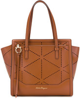 Salvatore Ferragamo laser-cut detailed tote - women - Calf Leather - One Size