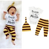 Morecome 1Sets Baby Boy Rompers Pants Leggings Hat Striped Outfits (3M, )