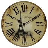 Infinity Instruments Eiffel Tower Decorative Clock - Beige