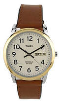 Timex Men's Easy Reader Watch with Brown Leathe r Strap