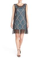 Tracy Reese Embellished Silk & Jacquard A-Line Dress