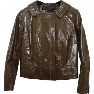 Louis Vuitton Khaki Leather Leather jackets