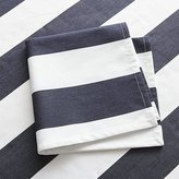 Crate & Barrel Cabana Navy Stripe Dinner Napkin