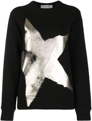 Golden Goose Metallic-Star Cotton Sweatshirt
