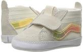 Vans Kids SK8-Hi Crib White/True White) Girls Shoes
