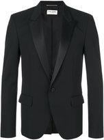 Saint Laurent classic single breasted jacket - men - Silk/Cotton/Polyester/Virgin Wool - 46