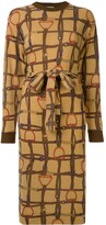 Celine Pre Owned horse straps print tied dress
