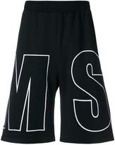 MSGM logo-embroidered shorts