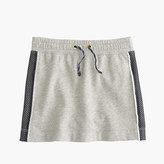 J.Crew Girls' mesh side-striped knit skirt