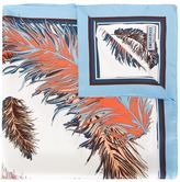 Emilio Pucci feather print scarf - women - Silk - One Size