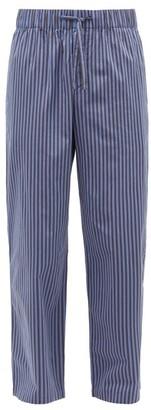 Tekla Striped Organic-cotton Pyjama Trousers - Navy/black