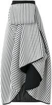 Stefano Mortari striped frill skirt