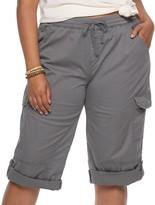 UNIONBAY Juniors' Plus Size Stretch Lightweight Twill Cropped Pants