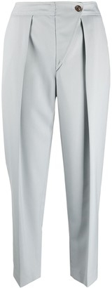 See by Chloe Pleated Waist Cropped Trousers