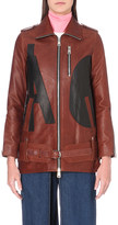 Aalto Appliquéd leather jacket