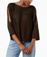 Eileen Fisher Organic Linen Blend Split-Sleeve Sweater, Regular & Petite
