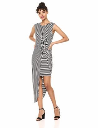 Bailey 44 Women's Vertigo Midi Stripe Dress with Twist Front
