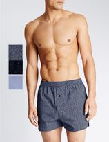 Marks and Spencer 3 Pack Pure Cotton Easy to Iron Boxers