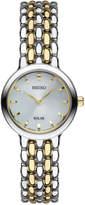 Seiko Women's Dress Solar Two-Tone Stainless Steel Bracelet Watch 23mm SUP349