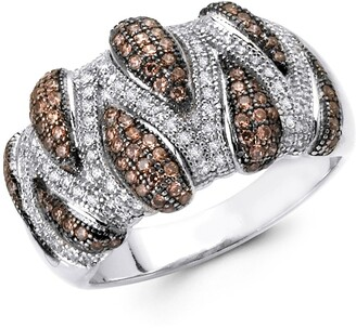 Lafonn Platinum Bonded Sterling Silver Pave Simulated Diamond Ring