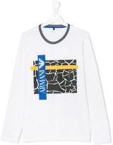 Armani Junior logo print top - kids - Cotton - 14 yrs