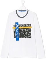 Armani Junior logo print top