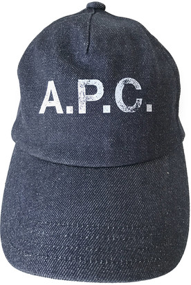 A.P.C. Blue Cotton Hats & pull on hats
