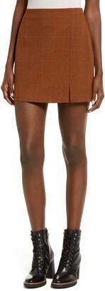 Leith Windowpane Check Miniskirt