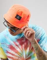 Asos Festival Mini Bucket Hat In Neon Orange