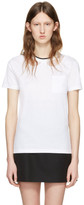 Miu Miu White Lace Intarsia T-Shirt