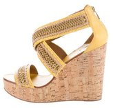 Tory Burch Embellished Platform Wedges