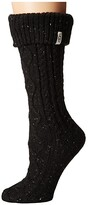 UGG Shaye Tall Rain Boot Socks (Black) Women's Knee High Socks Shoes