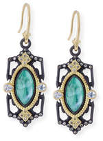 Armenta Old World Emerald Triplet Drop Earrings with Diamonds