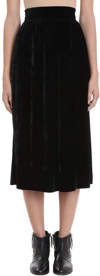 Golden Goose Cassiopea Velvet Midi Skirt