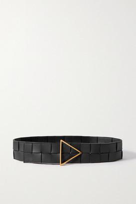 Bottega Veneta Intrecciato Leather Waist Belt - Black
